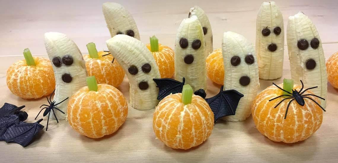 Halloween Boo-nanas and Pumpkins