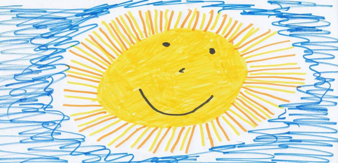 Sun Kid's Drawing