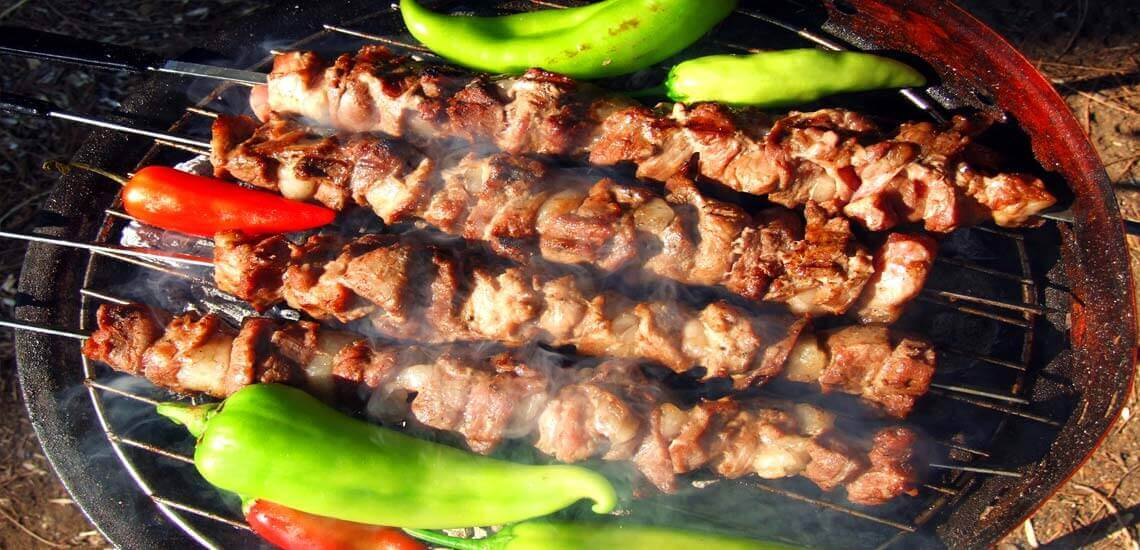 Grill Healthy Kebabs on Barbecue
